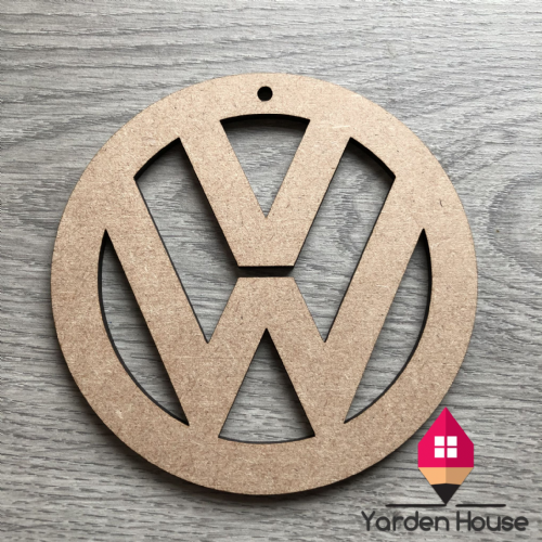 MDF shape VW logo craft blank (unpainted)